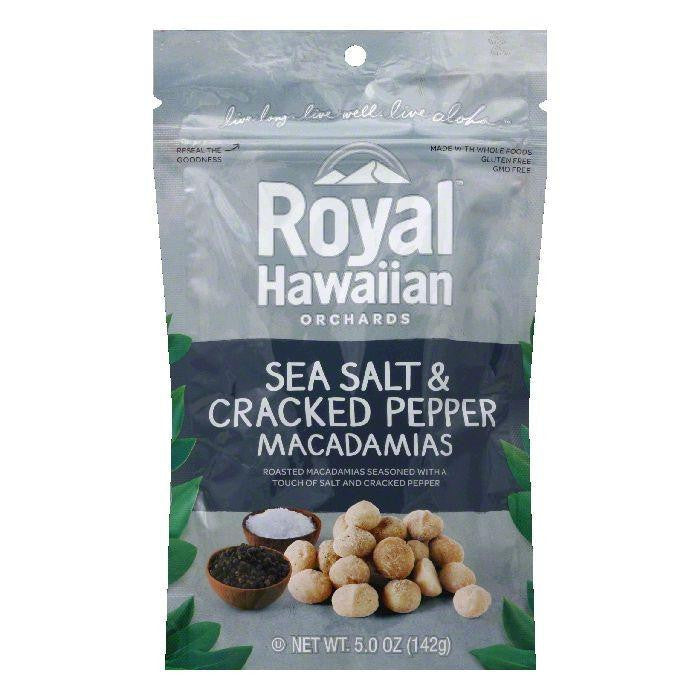Royal Hawaiian Orchards Sea salt & Cracked Pepper Macademia Nut, 5 OZ (Pack of 6)