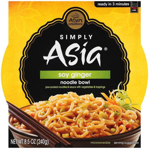 Simply Asia Noodle Bowl Soy Ginger 8.5 Oz Sleeve (Pack of 6)