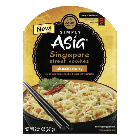 Simply Asia Classic Curry Hot Singapore Street Noodles, 9.24 Oz (Pack of 6)