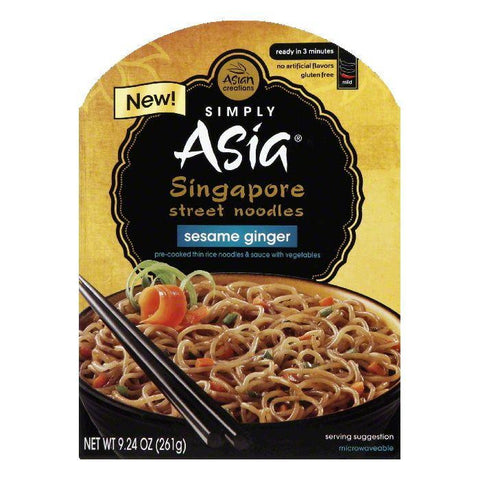 Simply Asia Sesame Ginger Mild Singapore Street Noodles, 9.24 Oz (Pack of 6)