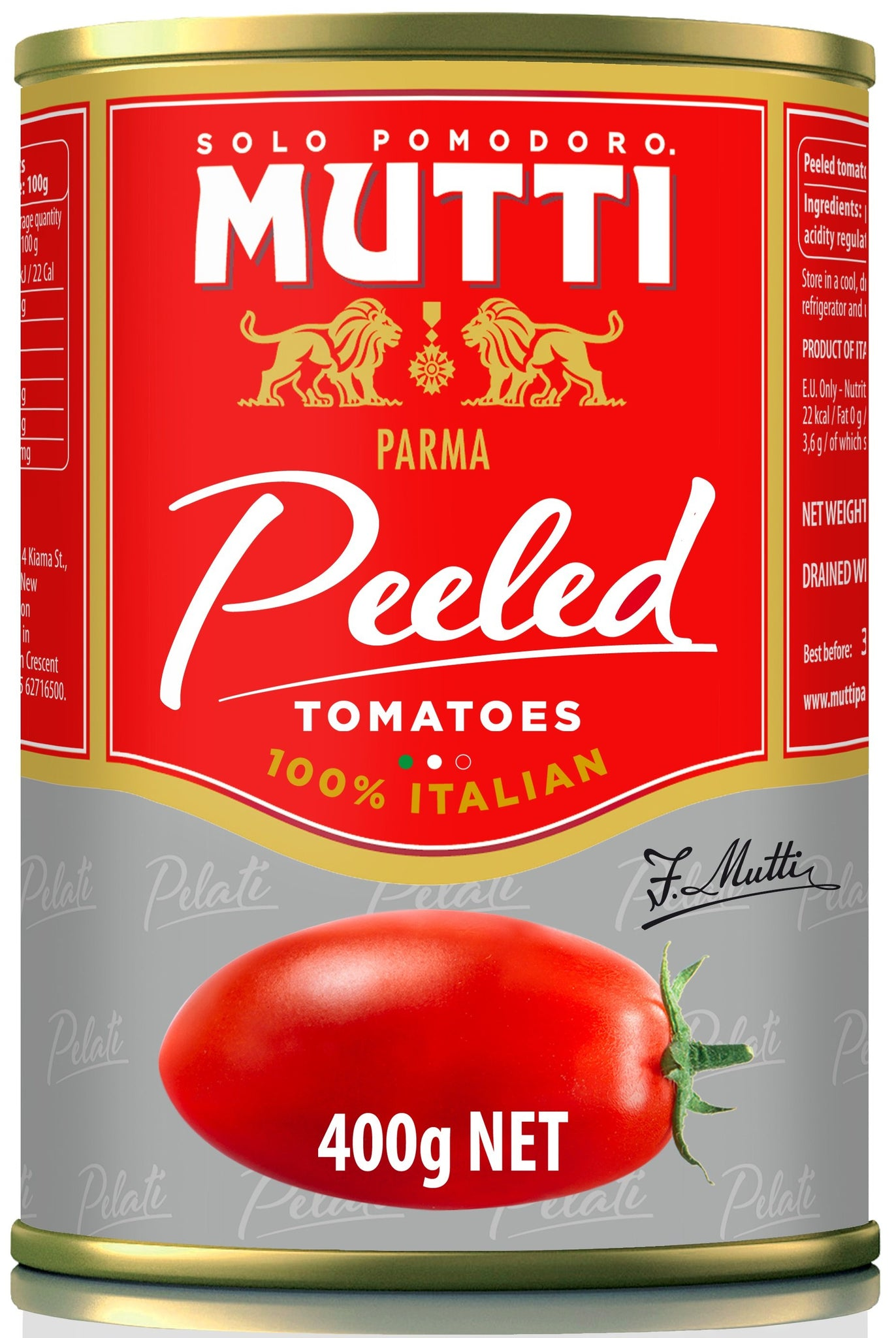 Mutti Peeled Tomato, 14 OZ (Pack of 12)