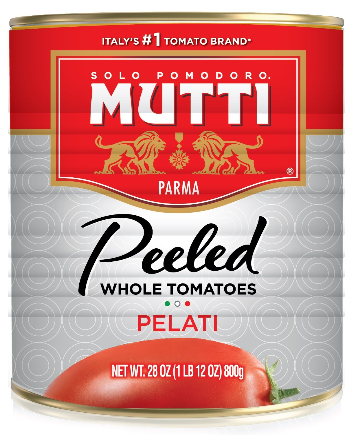 Mutti Peeled Tomato, 28 OZ (Pack of 12)