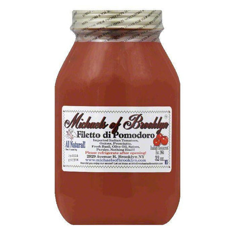 Michaels of Brooklyn Sauce Filetto De Pomodoro, 32 OZ (Pack of 6)