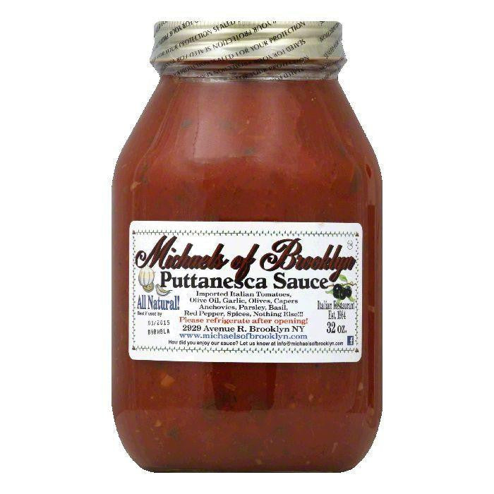 Michaels of Brooklyn Sauce Puttanesca, 32 OZ (Pack of 6)