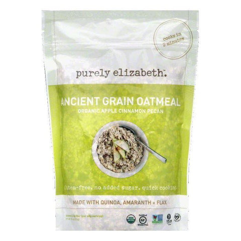 Purely Elizabeth Apple Cinnamon Pecan Organic Ancient Grain Oatmeal, 10 OZ (Pack of 6)