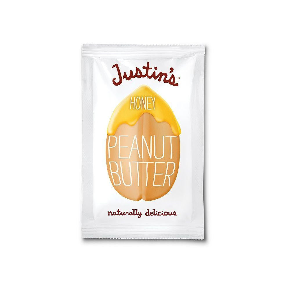 Justin's Natural Honey Peanut Butter Squeeze Packs, 1.15 OZ (Pack of 10)
