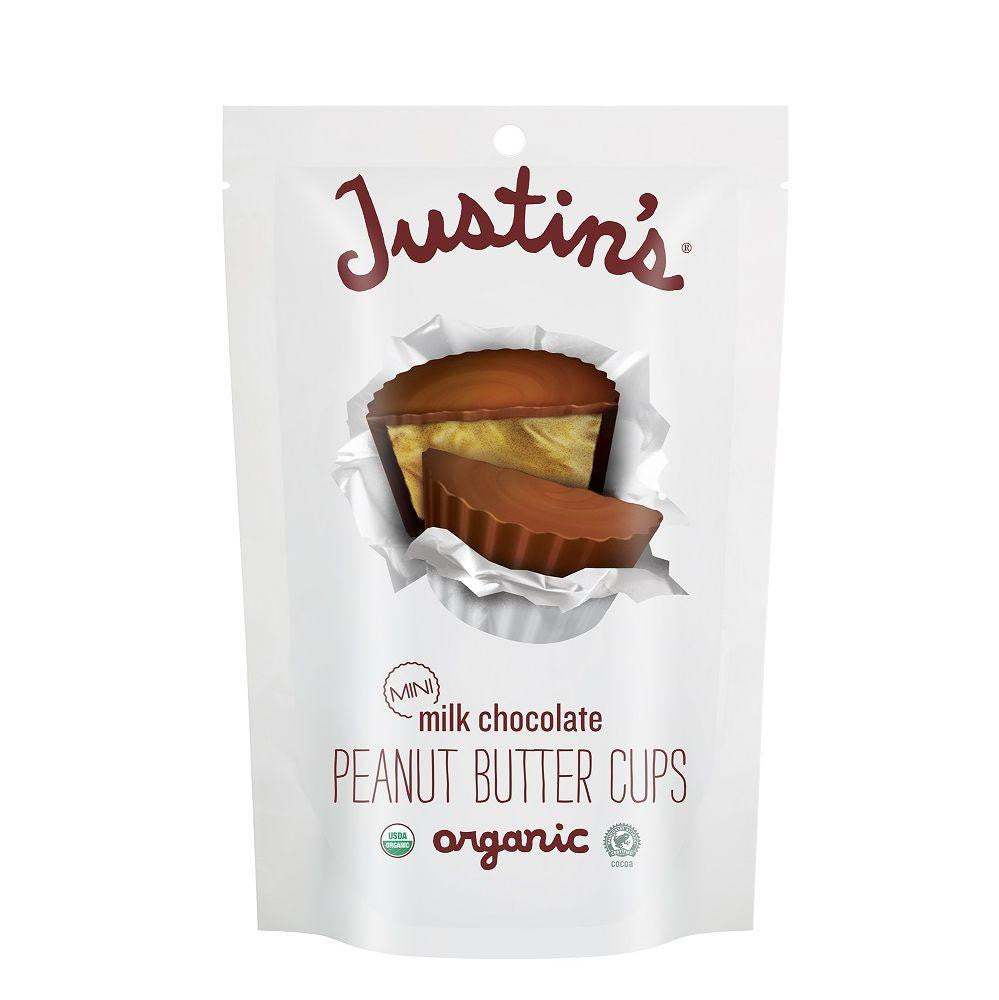 Justin's Organic Mini Milk Chocolate Peanut Butter Cups, 4.7 Oz (Pack of 6)