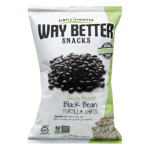 Way Better Snacks Simply Beyond Black Back Tortilla Chips, 5.5 OZ (Pack of 12)