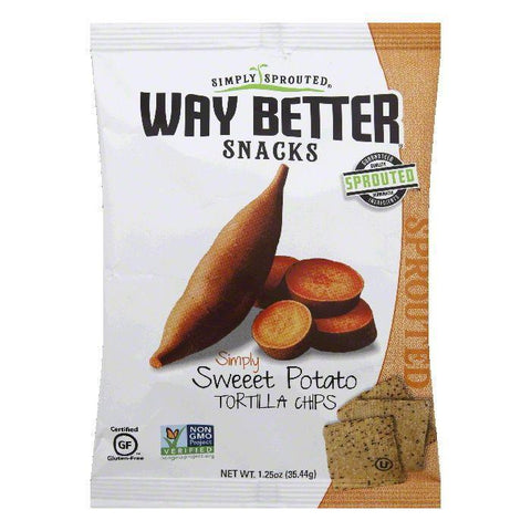Way Better Snacks Chips Sweet Potato Simply, 1.25 OZ (Pack of 12)