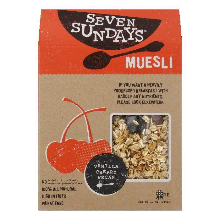 Seven Sundays Vanilla Cherry Pecan Muesli, 12 Oz (Pack of 6)