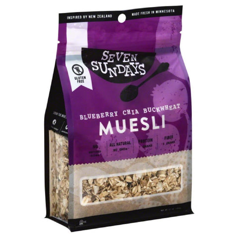 Seven Sundays Blueberry Chia Buckwheat Muesli, 12 Oz (Pack of 6)
