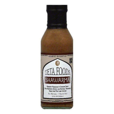 Teta Foods Shawarma Gourmet Marinade and Cooking Sauce, 12 OZ (Pack of 12)