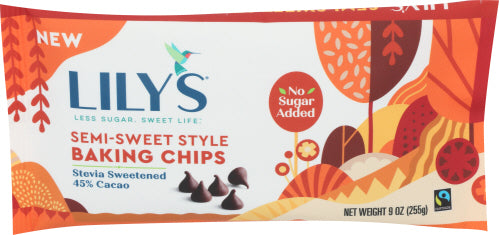 Lily's Sweets Semi-Sweet Chocolate Baking Chips, 9 Oz (Pack of 12)