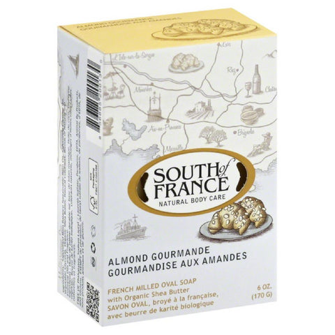 South of France Almond Gourmande French Milled Oval Soap, 6 Oz