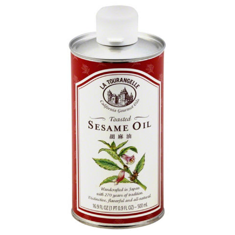 La Tourangelle Toasted Sesame Oil, 16.9 Oz (Pack of 6)