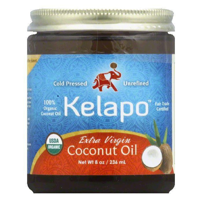 Kelapo Organic Extra Virgin Coconut Oil, 8 FO (Pack of 6)