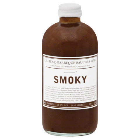 Lillies Q Smoky BBQ Sauce, 16 Oz (Pack of 6)