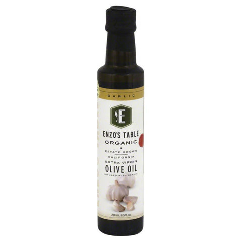 Enzos Table Garlic Extra Virgin Organic Olive Oil, 250 Ml (Pack of 6)