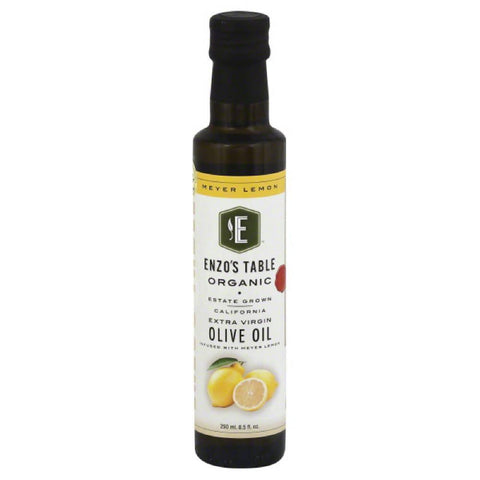 Enzos Table Meyer Lemon Extra Virgin Organic Olive Oil, 250 Ml (Pack of 6)
