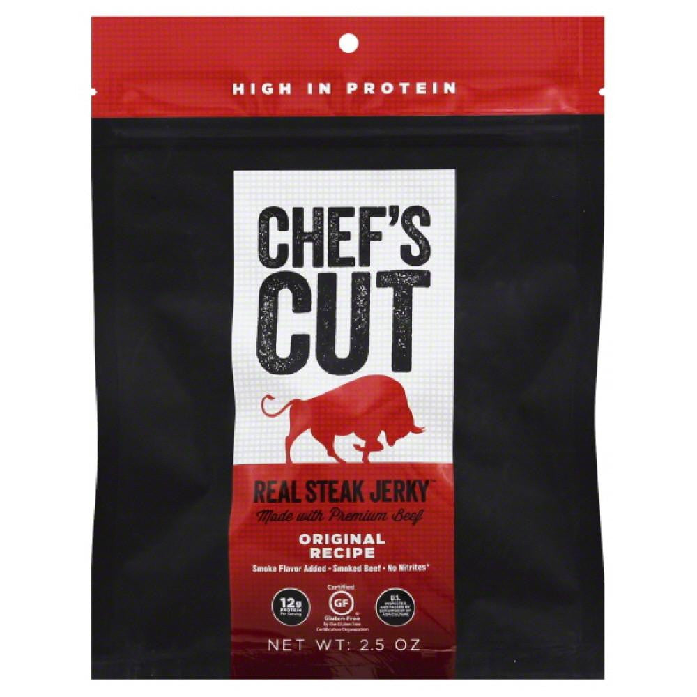 Chefs Cut Original Recipe Real Steak Jerky, 2.5 Oz (Pack of 8)