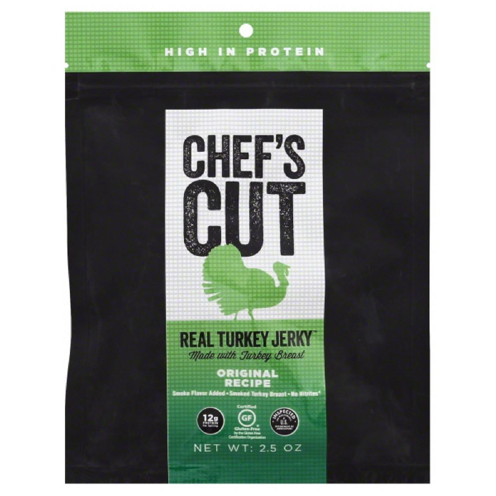 Chefs Cut Original Recipe Real Turkey Jerky, 2.5 Oz (Pack of 8)