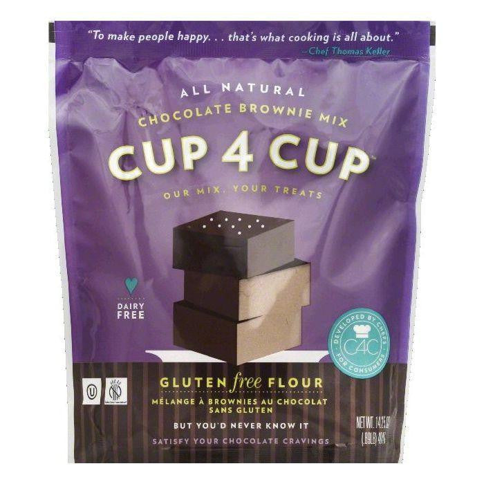 Cup 4 Cup Chocolate Brownie Mix, 14.25 OZ (Pack of 6)