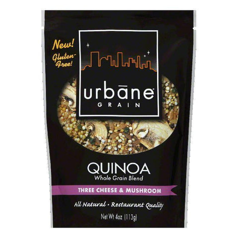 Urbane Grain 3 Cheese Mushroom Quinoa Blend, 4 OZ (Pack of 6)