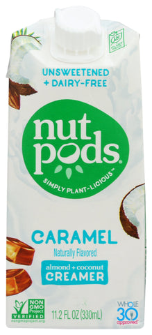 Nutpods Unsweetened Caramel Almond + Coconut Creamer, 11.2 fl oz (Pack of 12)