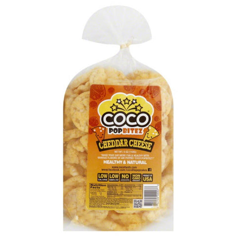 CoCo Cheddar Cheese Pop Bitez, 5 Oz (Pack of 12)