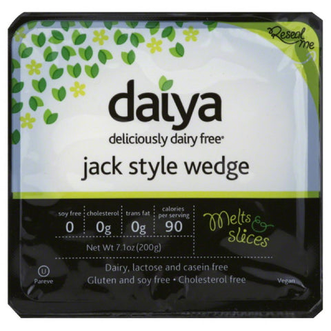 Daiya Deliciously Dairy Free Jack Style Wedge, 7.1 Oz (Pack of 8)