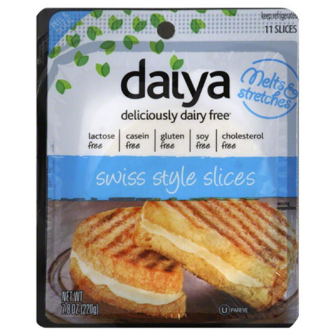 Daiya Swiss Style Slices, 7.8 Oz (Pack of 8)