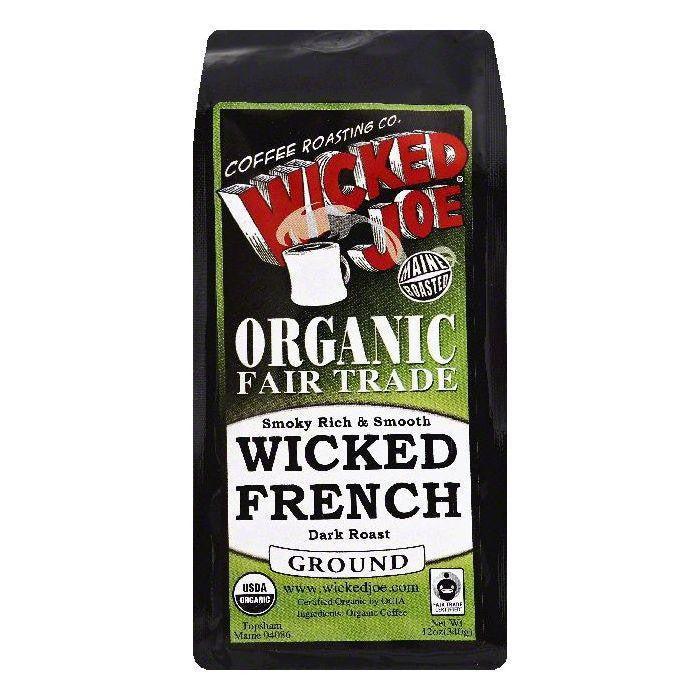 Wicked Joe Wicked French Dark Roast Ground Organic Coffee, 12 OZ (Pack of 6)