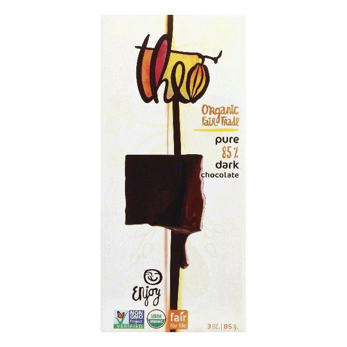 Theo Ultimate Dark Chocolate, 3 Oz (Pack of 12)