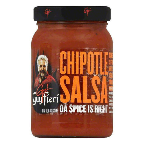 Guy Fieri Chipotle Salsa, 16 OZ (Pack of 6)