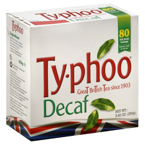 Ty Phoo Great British Decaf Tea Teabags, 80 Bg (Pack of 6)