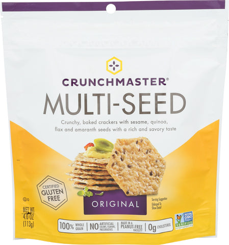 Crunchmaster Multiseed Cracker, 4.0 OZ (Pack of 12)