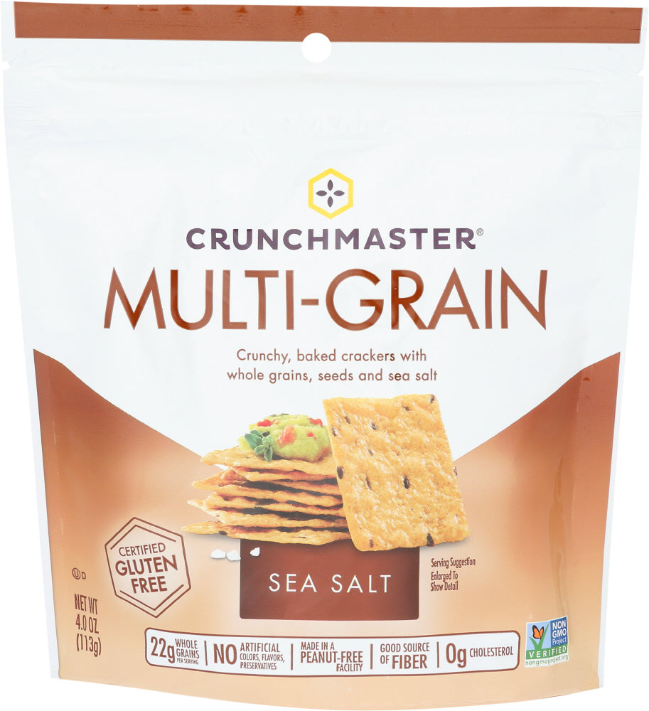 Crunchmaster Multigrain & Seasalt Cracker, 4.0 OZ (Pack of 12)
