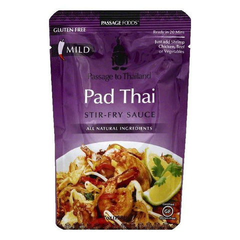 Passage Foods Pad Thai Stir-Fry Sauce, 7 OZ (Pack of 6)