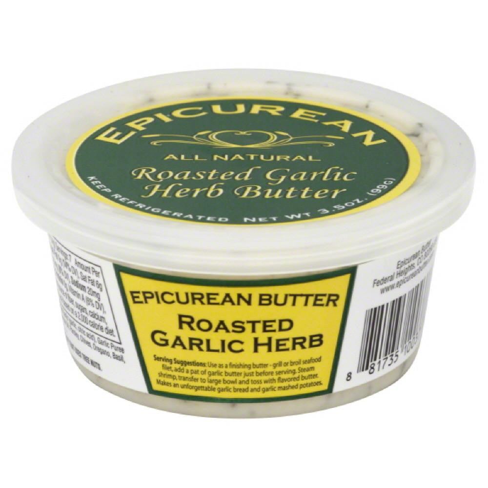 Epicurean Butter Roasted Garlic Herb Butter, 3.5 Oz (Pack of 8)