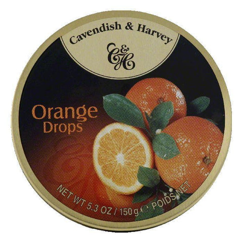 Cavendish & Harvey Orange Candy Tin, 5.3 OZ (Pack of 12)