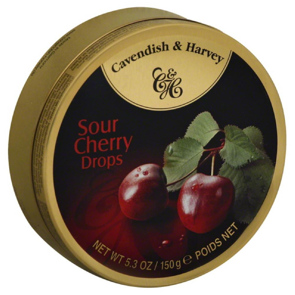 Cavendish & Harvey Sour Cherry Drops, 5.3 Oz (Pack of 12)