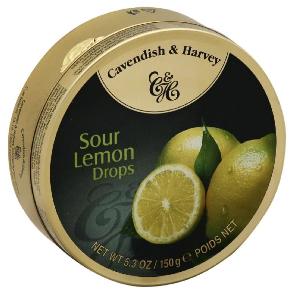 Cavendish & Harvey Sour Lemon Drops, 5.3 Oz (Pack of 12)
