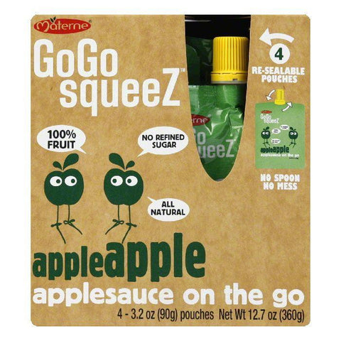 GoGo Squeeze Apple Sauce, 12.7 OZ (Pack of 12)