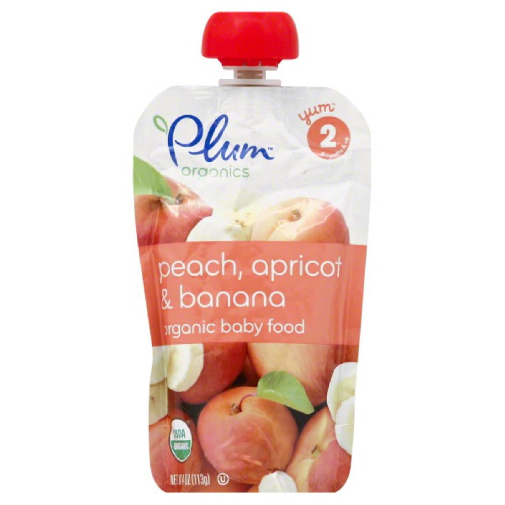 Plum 2 (6 Months & Up) Apricot & Banana Peach Organic Baby Food, 4 Oz (Pack of 6)