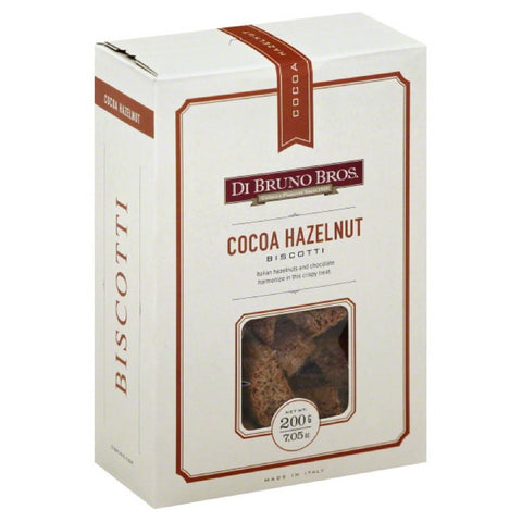 Di Bruno Bros Cocoa Hazelnut Biscotti, 7.05 Oz (Pack of 12)