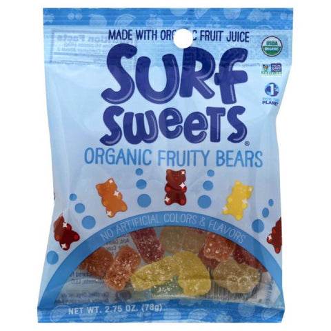 Surf Sweets Organic Fruity Bears, 2.75 Oz (Pack of 12)