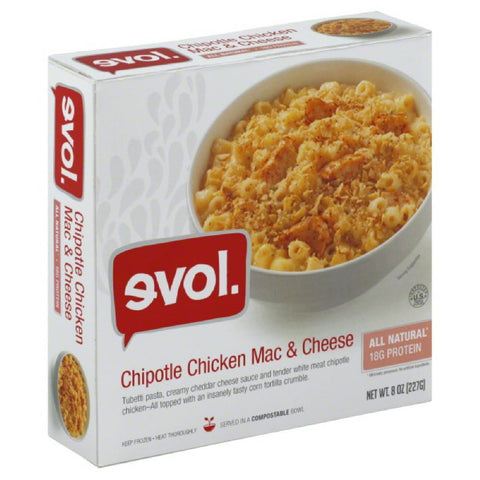Evol Chipotle Chicken Mac & Cheese, 8 Oz (Pack of 8)