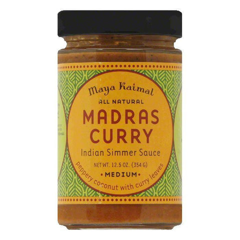 Maya Kaimal Medium Madras Curry, 12.5 Oz (Pack of 6)