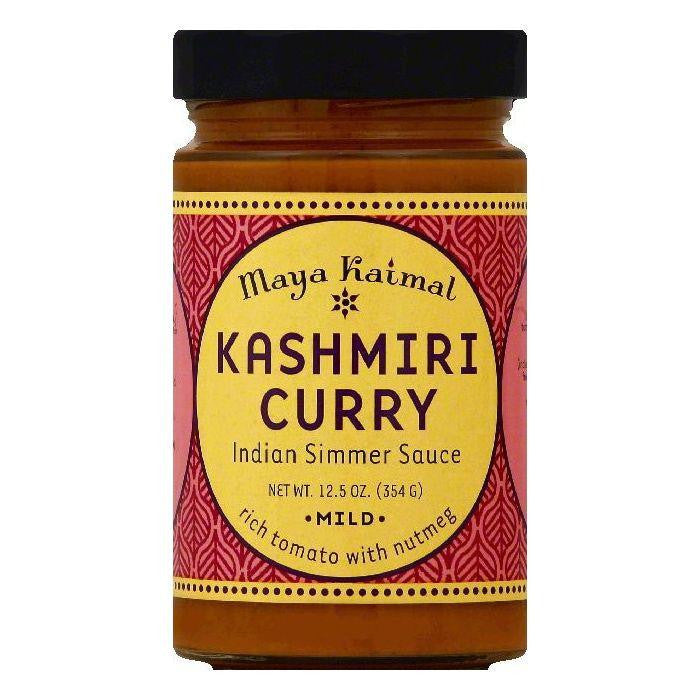 Maya Kaimal Mild Kashmiri Curry Indian Simmer Sauce, 12.5 OZ (Pack of 6)