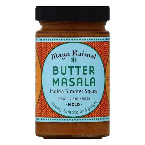 Maya Kaimal Mild Butter Masala Indian Simmer Sauce, 12.5 OZ (Pack of 6)